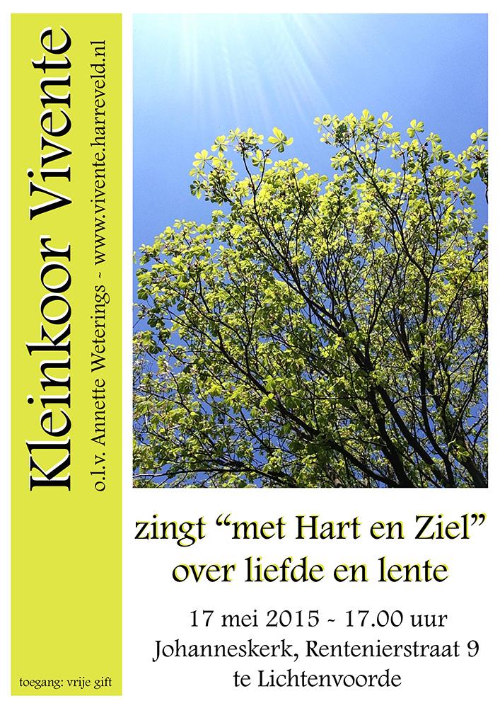 Poster Vivente - Hart en Ziel - 17 mei 2015 1000x700px